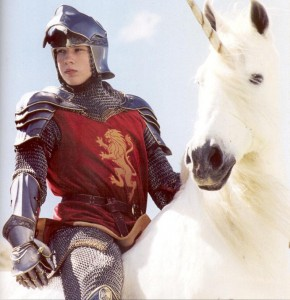 Peter Pevensie on the Unicorn