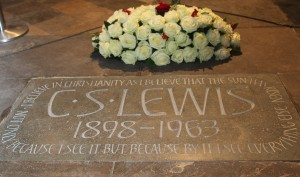 C.S. Lewis in Poet's Corner at Westminster Abbey