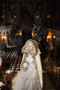 White Witch in Painted Hall, Chatsworth, Christmas 2013